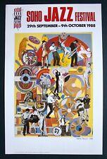 ORIGINAL POP ART POSTER SOHO JAZZ FESTIVAL 1988 EDUARDO PAOLOZZI RISQUE COLLAGE.
