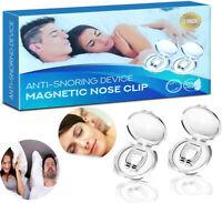 2PK Silicone Magnetic Anti Snore Stop Snoring Nose Clip Sleeping Aid Apnea Guard