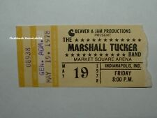 Marshall Tucker Band 1978 Concert Ticket Stub Indianapolis Market Square Rare