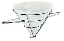 Winco Fryer Filter Stand, Chrome Plated and Rayon Cloth Filter Cones for Frye...