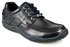 POD MEN'S TRAIL BLACK LACE UP SHOES IN SIZE UK6 TO UK15