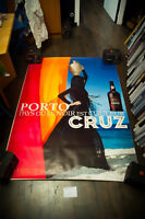 PORTO CRUZ I 4x6 ft Bus Shelter Original Vintage Alcohol Advertising Poster 1980