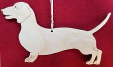 Dachshund Ornament, Hand Cut on Scroll Saw, Doxie