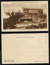 Postal Venta de Baños Palencia. Nº 31 El Monasterio. Casa, escalera y fuente.