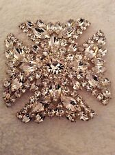 "Brand New Gorgeous Clear Shimmering Eisenberg ""Maltese� Brooch"