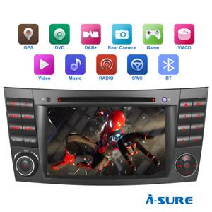 """16GB DAB+ Autoradio 7"""" DVD GPS Navi für Mercedes Benz E Klasse W211 C219 W219"""