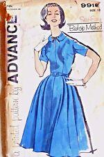 Vintage Advance Pattern Shirtwaist Dress Collar Size 12 Bust 32 #9918 Bishop