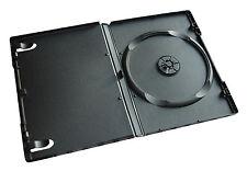 Confezione da 100 singole NERE da 14 mm Spina Standard CD DVD BluRay casi Storage Maniche
