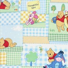Disney Fabric Pooh, Eeyore, Tigger, Piglet Patchwork Thoughtful Characters - FQ