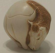 Vintage Harmony Kingdom Roly Poly Figurine Trinket Box Dom Horse Made in Uk