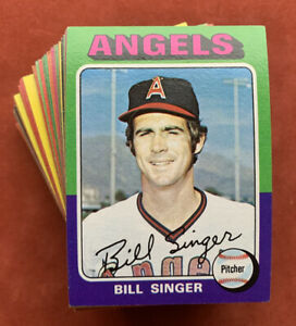 Lot of 87 Different 1975 Topps Baseball Cards Overall NM+