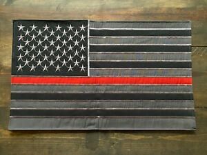 Firefighter Thin Red Line Subdued American Banner Flag Military First Responders