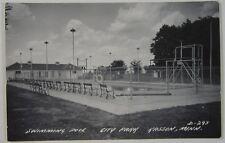 RPPC Kasson Minnesota Postcard MN Photo City Park Swimming Pool High Dive