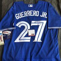 VLADIMIR GUERRERO Jr Signed Jersey Toronto Blue Jays Autographed PSA DNA COA