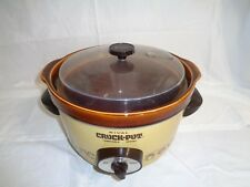 RIVAL - VINTAGE 5 QT. SLOW COOKER CROCK POT REMOVABLE INSERT VENTED LID # 3350
