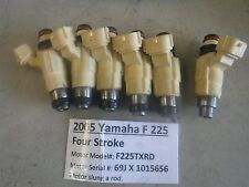 2005 Yamaha Outboard F 225 Four Stroke Fuel Injectors (all 6) 69J-13761-00-00