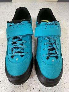 Specialized Rime 1.0 Mountain Bike Shoes Size 42 Aqua