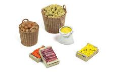 1/35 Scale model kit Fruit & Vegetables - (1 bag, 2 baskets and 3 wooden crates)