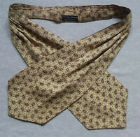 Cravat Tootal Vintage Mens 1960s 1970s MOD CREAM DARK RED PAISLEY