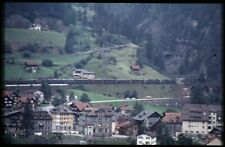 35mm slide+© SBB CFF FFS 2x Re 4/4 II/III Wassen Switzerland 1981 original