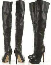 new TOPSHOP 'barley2' over the knee thigh high leather boots uk 6 eu 39