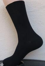 4 Pares Mujer calcetines sin goma 100%25 Algodón 1/1 Costilla negro liso Talla 35