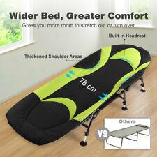 Folding Guest Bed Compact Sleep BedChair With Mattress &Headrest 6 Leg Recliner