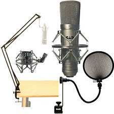 CAD GXL2200 Cardoid Condenser Microphone + Broadcast Webcast Boom Arm+Pop Filter
