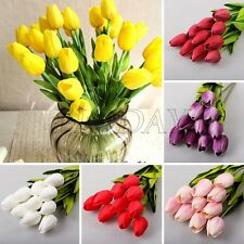 1x PU Fake Artificial Real Touch Tulips Bouquet Flower Home Party Decor 5 Colors