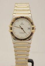 Omega Constellation 18K Yellow Gold & Stainless Steel Quartz 32mm Watch