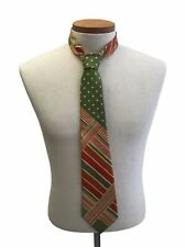 Vintage 1940s Men's Ferenissim Orange and Green Silk Neck Tie Rockabilly Swing
