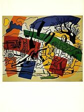 """1976 Vintage FERNAND LEGER """"THE COUNTRY OUTING"""" FABULOUS COLOR offset Lithograph"""