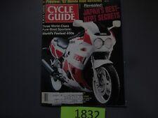 FEBRUARY 1987 CYCLE GUIDE MAGAZINE,KAWASAKI KX125,HONDA CBR400,GSX-R400,FZR400