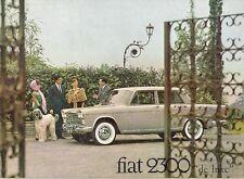 Fiat 2300 Saloon & Estate 1964-68 UK Market Sales Brochure