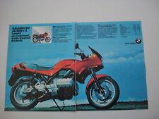 advertising Pubblicità 1986 MOTO BMW K75 K 75