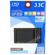 JJC LCD Guard Film Camera Screen Protector for Casio Exilim Ex-10 Ex-100 Ex100f