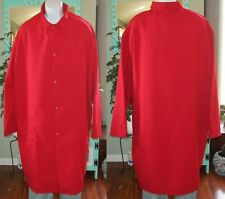 """Best Medical Lab Coat Gown Snaps 3 pocket & side Vents 45"""" Length Size 5X Red"""