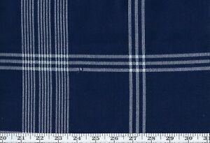 Outdoor Upholstery Fabric by Ralph Lauren R$232y Landing Road Check CL Denim