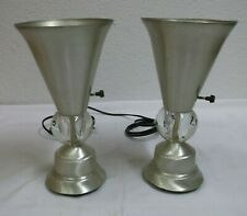 1950s 1960s Table Lamp Pair Stehlampen Bedside USA mid Century 50s 60s