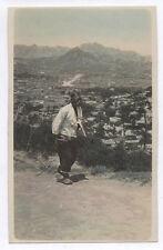 OLD PHOTO COLORED COLORISÉE Japon Japan Vers 1920 1930 Homme Rehaussée