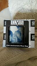 NIB ELVIS PRESLEY 25TH ANNIVERSARY COFFEE CUP MUG 18 oz