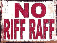 No Riff Raf Metal Retro Vintage Advertising Bar Pub Shed Office Kitchen Sign