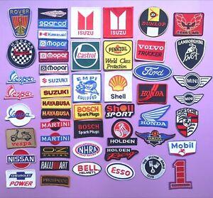 Moto hot iron Motorbike Motorsport Patches Biker Patches Vespa Servizio /Écusson brod/é Applique embroidery