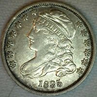 1835 Silver Capped Bust Dime US Type Coin Early 10 Cents XF Extra Fine B4