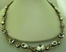 Sorrelli Crystal Clear Necklace NCD2AGCCL antique gold tone