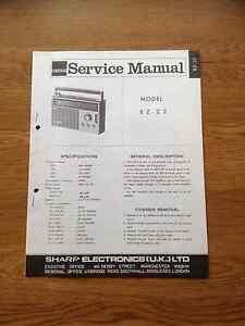 Sharp BZ-23 Portable Radio Vintage Service Manual BZ23 BZ 23