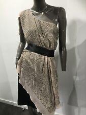 KAREN MILLEN asymetric evening dress  size 16 UK