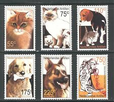 Dogs And Cats On Netherlands Antilles 2001 Scott 949-954, Mnh