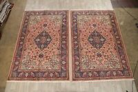 Set Of 2 Medallion Oriental Traditional Area Rug Hand-Knotted Wool Carpet 7x10