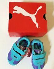 NWT Baby Puma Shoes Blue-Iris Scuba-Blue Size 5 Light Up On Side
